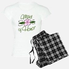Pink Flower Maid of Honor Pajamas