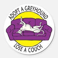 Lose a Couch (P) Round Car Magnet