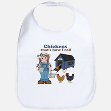 Girl With Chickens Bib