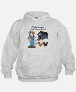 Girl With Chickens Hoodie