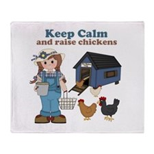 Keep Calm and Raise Chickens Throw Blanket
