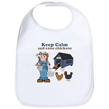 Keep Calm and Raise Chickens Bib