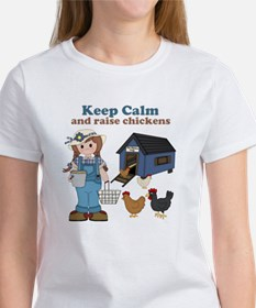 Keep Calm and Raise Chickens Women's T-Shirt