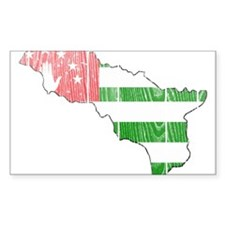Abkhazia Flag And Map Decal