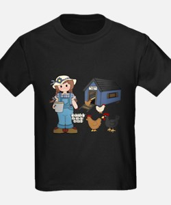 Farm Girl Chickens T