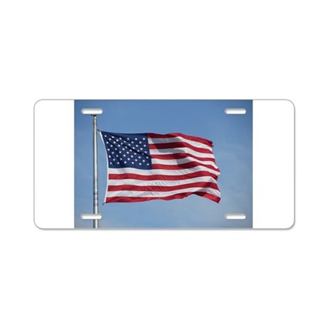 usa american flag Aluminum License Plate