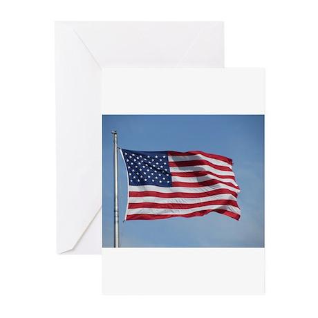 usa american flag Greeting Cards (Pk of 20)