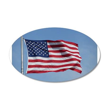 usa american flag 20x12 Oval Wall Decal