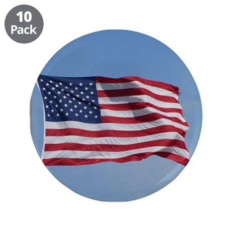 """usa american flag 3.5"""" Button (10 pack)"""