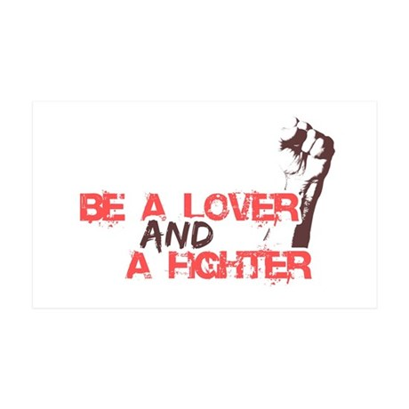 Lover and fighter 35x21 Wall Decal