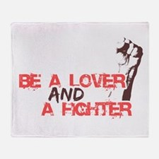 Lover and fighter Throw Blanket
