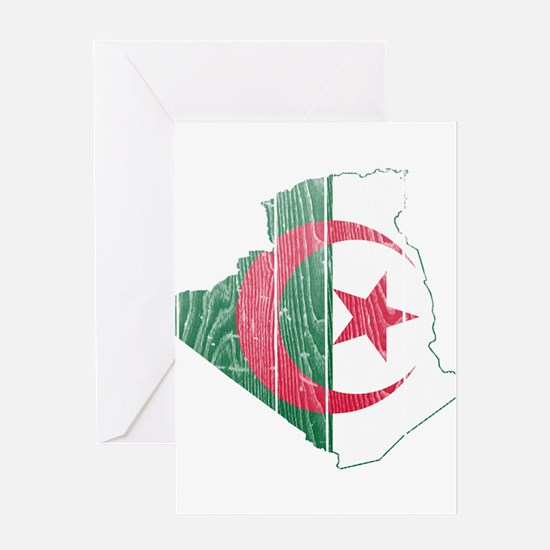 Algeria Flag And Map Greeting Card