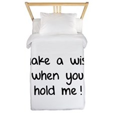 Make a wish when you hold me! Twin Duvet