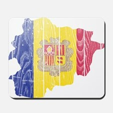 Andorra Flag And Map Mousepad