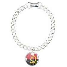 Angola Flag And Map Charm Bracelet, One Charm