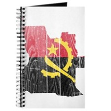 Angola Flag And Map Journal
