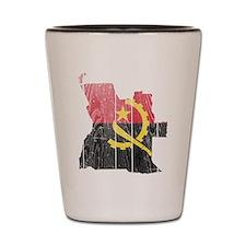 Angola Flag And Map Shot Glass