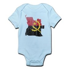 Angola Flag And Map Infant Bodysuit