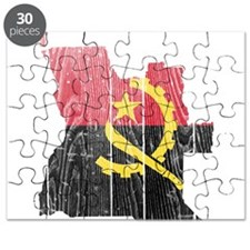 Angola Flag And Map Puzzle