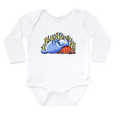 Sea Turtle n Manatee Long Sleeve Infant Bodysuit