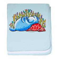 Sea Turtle n Manatee baby blanket