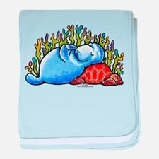 Sea Turtle n Manatee baby blanket