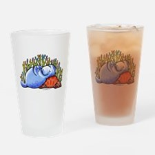 Sea Turtle n Manatee Drinking Glass