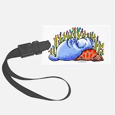 Sea Turtle n Manatee Luggage Tag