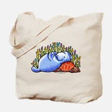 Sea Turtle n Manatee Tote Bag