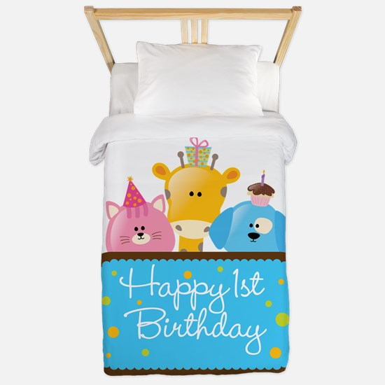 Happy 1st Birthday Twin Duvet