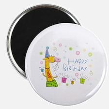 "Happy Birthday Giraffe 2.25"" Magnet (10 pack)"