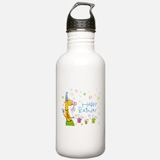 Happy Birthday Giraffe Water Bottle
