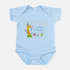 Happy Birthday Giraffe Infant Bodysuit