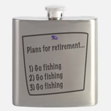 Retirement Plans (fishing) Flask