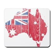 Australia Civil Ensign Flag And Map Mousepad