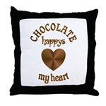 Chocolate Heart Throw Pillow