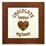 Chocolate Heart Framed Tile