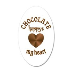 Chocolate Heart Wall Decal
