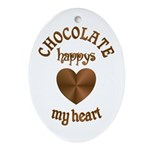 Chocolate Heart Ornament (Oval)