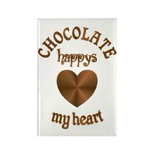 Chocolate Heart Rectangle Magnet