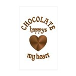 Chocolate Heart Sticker (Rectangle 10 pk)