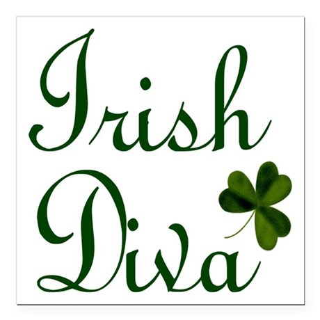 "Irish Diva Square Car Magnet 3"" x 3"""