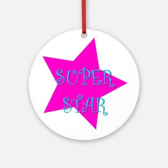 Super Star Ornament (Round)