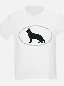 German Shepherd Silhouette Kids T-Shirt