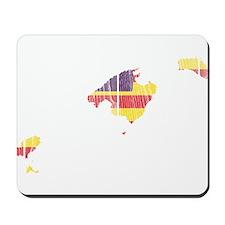 Balearic Islands Flag And Map Mousepad