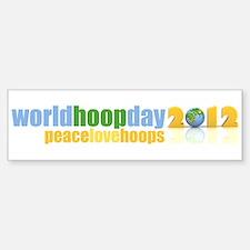 2012 Peace Love Hoops Bumper Bumper Sticker