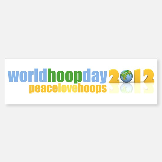 2012 Peace Love Hoops Sticker (Bumper)