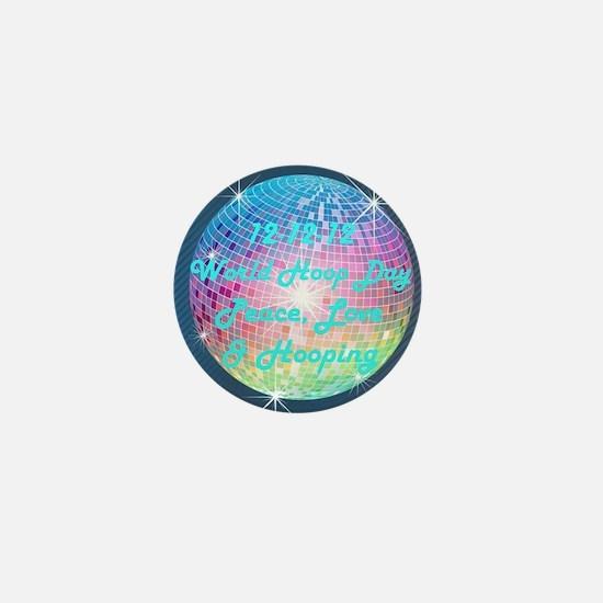 2012 Rainbow Disco Ball Mini Button