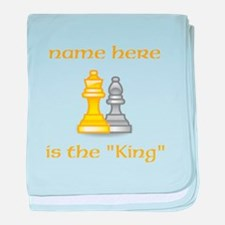 Personlized King Shirt baby blanket