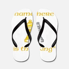 Personlized King Shirt Flip Flops